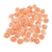 100pcs PE Plastic Rose Head Artificial Flower Yard Party Bridal Craft Gift DIY Decor