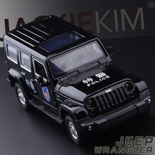 High Simulation Exquisite Diecasts&Toy Vehicles Caipo Car Styling Jeep Wrangler Police CCar 1:32 Alloy Diecast SUV Model Toy Car