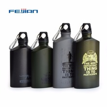 FEIJIAN Outdoor Sports Water Bottle Lightweight Aluminum Flask Leak-proof Military Canteen Oval Kettle Loop Lid Narrow Mouth(China)