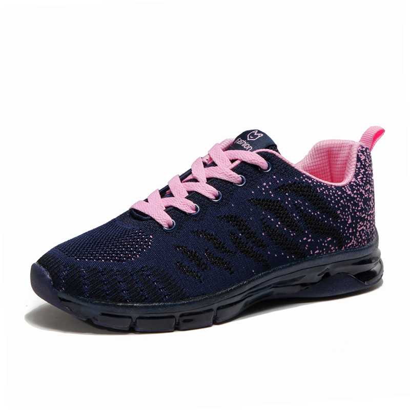 Women Casual Shoes 2019 Spring Summer Light Running Shoes Runners Breathable Sneakers Purple Pink Rose Outdoor Sport Shoes Women(China)