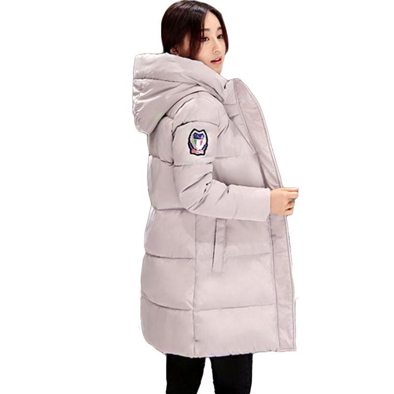 2017 Autumn Winter Jacket Women Cotton-padded Plus Size Winter Coat Thicken Warm Parkas Female Slim Hooded Overcoat SSA1Одежда и ак�е��уары<br><br><br>Aliexpress
