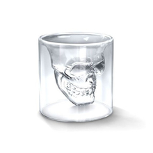 75ML Skull Glass Transparent Crystal Skull Head Shot Glass Cup For Whiskey Wine Vodka Home Drinking Ware Man Gift Cup