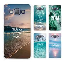 Neverland Ocean Sea Wave Quote Clear Transparent Cell Phone Case Cover for Samsung Galaxy A3 A5 A7 A8 A9 2016 2017