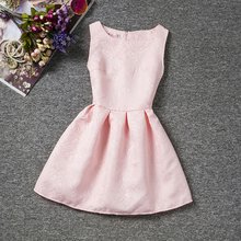 Pink Girl Dress Summer 2017 Princess Formal Events Party Dance School Graduation Dresses For Girls Teenagers Kids Clothes 6-12T