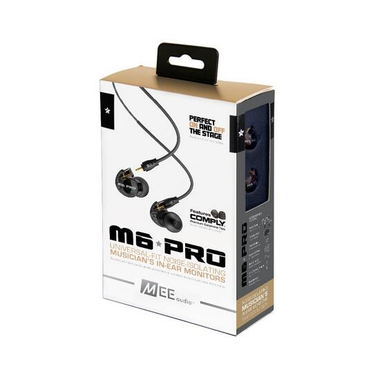 Lowest price !! MEE Audio M6 PRO Noise-isolating HiFi In-Ear Monitors Earphones with Detachable Cables PK SE215 SE315 SE535<br>