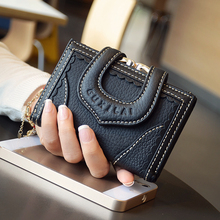 Genuine Leather Brand Women Wallets 2017 Fashion Designer Short Wallet Female Women Clutch Handbag Card Holder Coin Purse Wallet