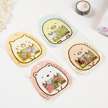 50 pcs/lot(1 bag) DIY Cute Kawaii Cat Bear PVC Scrapbook Stickers For Diary Home Decoration Photo Album Free Shipping 3430