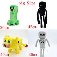 4Styles big Size Minecraft Stuffed Plush Toys 30-42cm Minecraft Creeper Enderman Sketelon Ocelot Plush Toy for Kids(China)