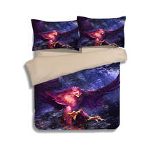 Sexy Purple Bedlinens 3/4PCs Eagle Bedding Sets Twin Full Queen King Sizes 3d Duvet Cover for Girls Adults Cotton Pillowcases(China)