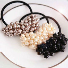 Hot Sale New Pearl Rubber Bands Headwear For Women Elastic Hair Bands Accessories For Hair(China)