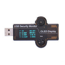 USB OLED Safety Monitor Tester Current Meters Charger Ammeter Voltmeter Battery Mobile Power Supply Capacity Detection(China)