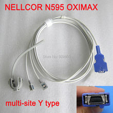 Compatible NELLCOR N595 OXIMAX 14pin spo2 sensor reusable long cable multi site y model spo2 sensor pulse probe