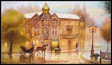 Needlework for Embroidery DIY French DMC High Quality - Counted Cross Stitch Kits 14 ct Oil painting - Carriage on Avenue