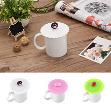 1pc Cute Lovely Fruit Shape Anti-dust Silicone Fruit Cup Cover Leakproof Coffee Lid Cap Airtight Sealed Cup Cover(China)