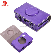 Sunyoy Vintage Purple PU Leather Case Bag for Polaroid Snap Touch Instant Print Digital Camera,Free Shipping(China)