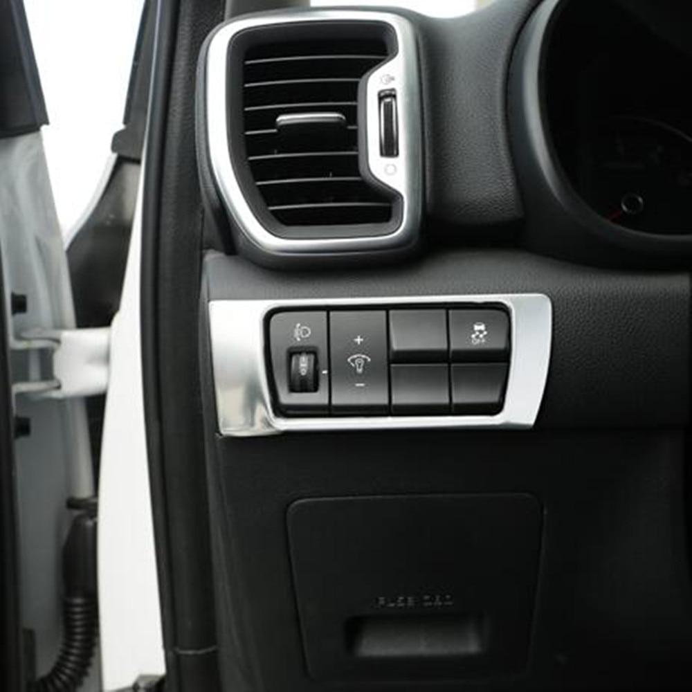 For Kia Sportage KX5 2016-2017 Stainless Steering wheel Cover Trim Circle