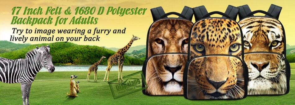 animal printing bag