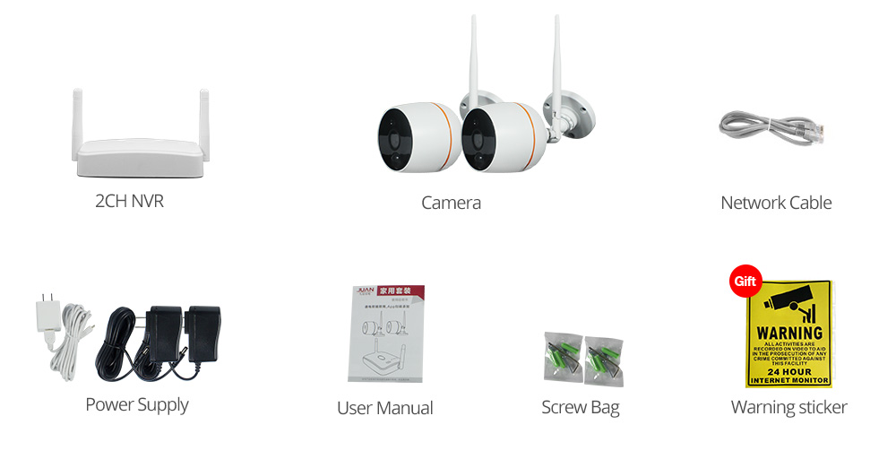 security camera system audio packing