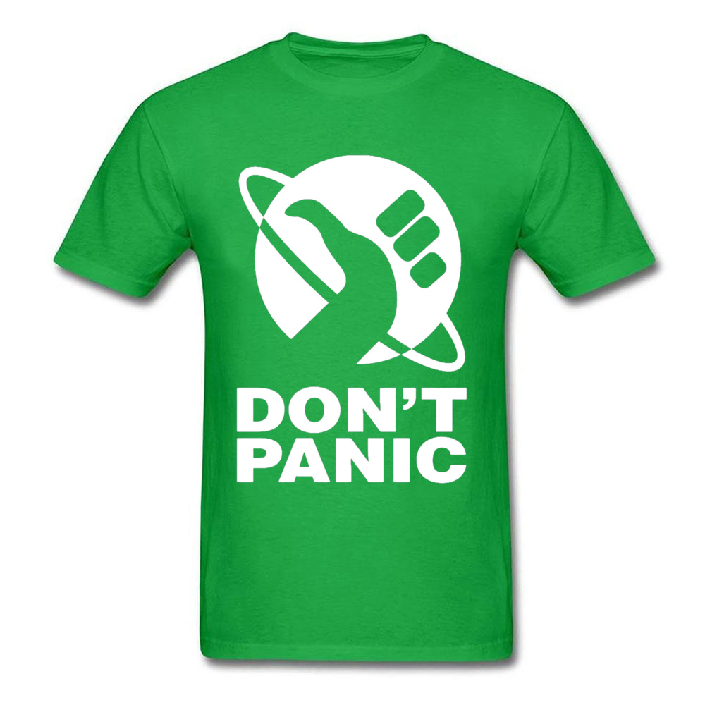 cosie Short Sleeve Tops T Shirt Summer/Fall O-Neck Pure Cotton Men T Shirts Dont Panic 24448 cosie Tops Shirts On Sale Dont Panic 24448 green