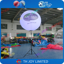 LED inflatable light stand balloon for outdoor advertising / tripod pole standing lighted balloon wedding/event/party decoration