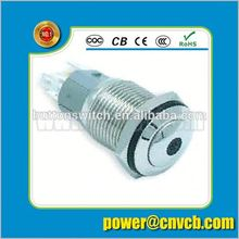 TY 1697F IP67 16mm momentary  dot illuminated anti-vandal push button switch dot push button switch