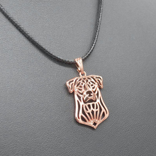 Sykesha 2018 Fashion Women's Rose Gold Pendant Rope Chain Necklaces Jewelry Beauceron Dog Necklaces For Lovers Drop Shipping(China)