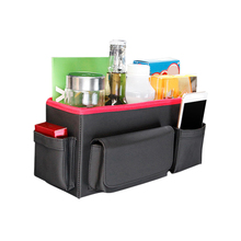 Leather Car Seat Back Storage Bag Auto Food Stowing Tidying Hanging Organizer Pocket Interior Accessories Supplies Product(China)