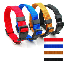Dog Collar Leads 5 color Simple Design Pet Products Accessories Chains For Pet Nylon Dog Collar Length 34-49cm, Width 2cm