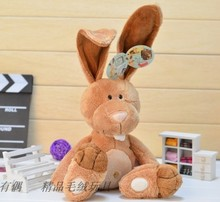 Birthday gift NICI counters genuine Easter Bunny big long ears rabbit children favorite plush toy free shipping(China)