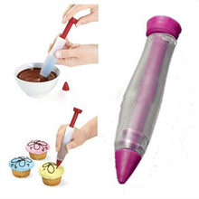 Food Writing Silicone Pen Chocolate Decorating tools Cake Mold Cream cup cookie Icing Piping Pastry Nozzles kitchen accessories(China)