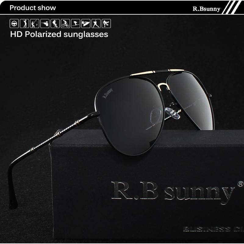 Fashion women sunglasses High quality classic brand polarized HD men sunglasses Driving Anti-glare UV400 Goggle R.Bsunny R1616 1