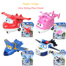 Super Wings Alloy Sliding Plane Robot Toys Jett Paul Jerome Dizzy Airplane Action Figures Boys Christmas Gift Brinquedos