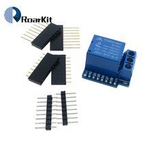 10pcs/lot Relay Module For D1 MINI 5V hight level trigger One 1 Channel Relay Module interface Board Shield(China)