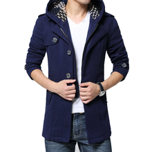 New Autumn Fashion Brand-Clothing Jacket Men Wool Coat New Design Pea Coats Mens Detachable Hooded Trench Winter Coat Men 5XL