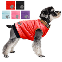 Wholesale!Dog Clothes Winter Warm Padded Thick Dog Coat Jacket Puppy Cat Clothing Manufacturer Pet Apparel Products For Animals(China)