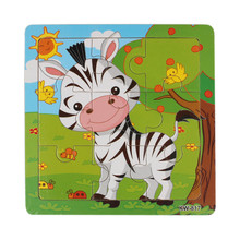 Hot selling Cute Wooden Giraffe Zebra Dairy Jigsaw Toys For Kids Educational Learning Puzzles Toy Jigsaw Puzzle Lowest price