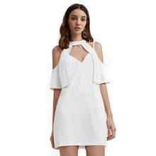 2017 V-Neck Halter Cut Out Cold Shoulder Mini Dress Women Hot Summer Clothing Party Casual Sexy Backless Straight Dresses