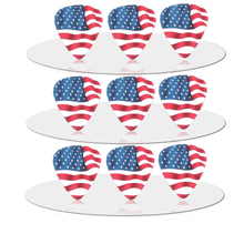 SOACH 10pcs 0.71mm Flag of the United States quality two side earrings pick DIY design guitar accessries pick guitar picks(China)