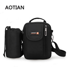 Top-Handle Bags Nylon Waterproof Pouch Sling Bag Handbag Man Crossbody Bag Multifunctional Water Cup Bolsa Feminina
