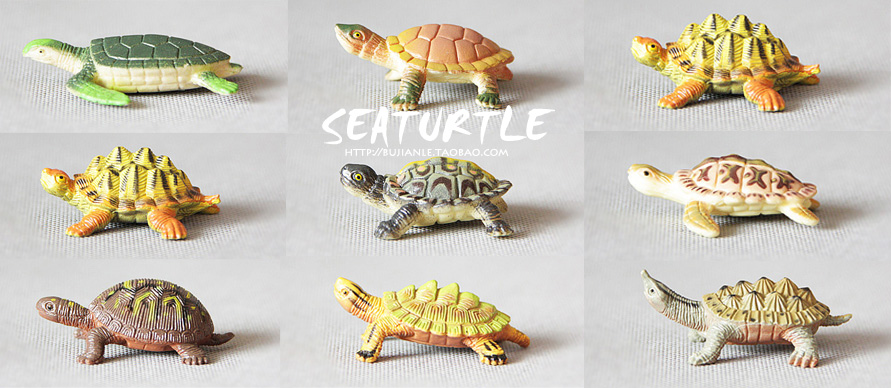 pvc The simulation model of marine animals Toys tortoise / turtle  8pcs/set<br><br>Aliexpress