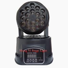 2016 hot led moving head beam mini led rgb dmx 18*3W led moving head Quad with advanced 13 channels factory directly sale