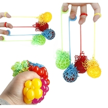 New Funny Novelty Squeeze Hand Wrist Toys Stress Relief Healthy Venting Ball Grape Shape Good Selling