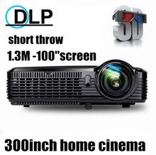 300inch screen Brightest 5500Lumen Full HD DLP Projector for Business Advertising Education data show 3D   Projektor Proyector