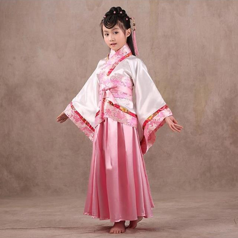 Exquisite Floral Children Ancient Costume Chinese Classic Lasting Appeal Graceful Hanfu for Girls Kids Fairy Princess Photo Prop<br><br>Aliexpress