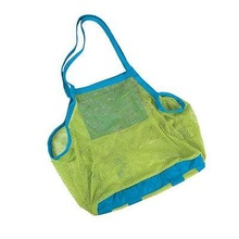 New Large Mesh Tote Bag Clothes Toys Carry All Sand Away Beach Bag 18*12*18inch