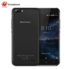 Original Blackview A7 MT6580A Quad Core Cell Phone Android 7.0 Smartphone 1GB RAM 8GB ROM 5.0MP Dual Back Camera Mobile Phone(China)