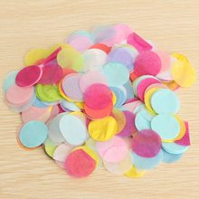 1000pcs Multi Colors Confetti Round Shape Biodegradable Tissue Paper Wedding Party Decorative Crafts Balloon Party Decoration(China)