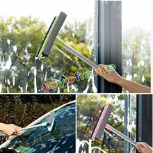 Anti-slip long handle take down glass sponge window cleaner brush bathroom wipers also for car