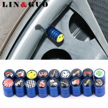 4Pcs/lot Case for seat opel audi honda nissan alfa Aluminum Air Valve Caps Bicycle Tire Tyre Cover Valve Cap Car Wheel Styling(China)