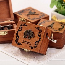 Creative Retro Wooden Handy Music Box Series  Decoration For Home Living Room Bedroom Gift For Kids Birthday Gift
